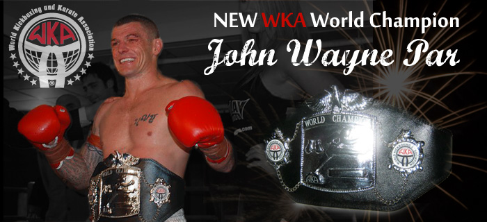 John Wayne Parr New WKA Champion