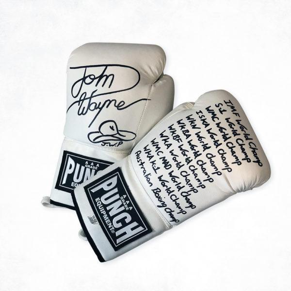 John Wayne Parr Signed Gloves